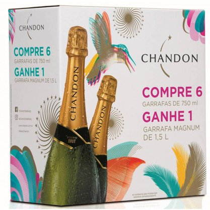 Pack Chandon - 6 un. Chandon Brut 750ml + 1 un. Magnum 1,5L